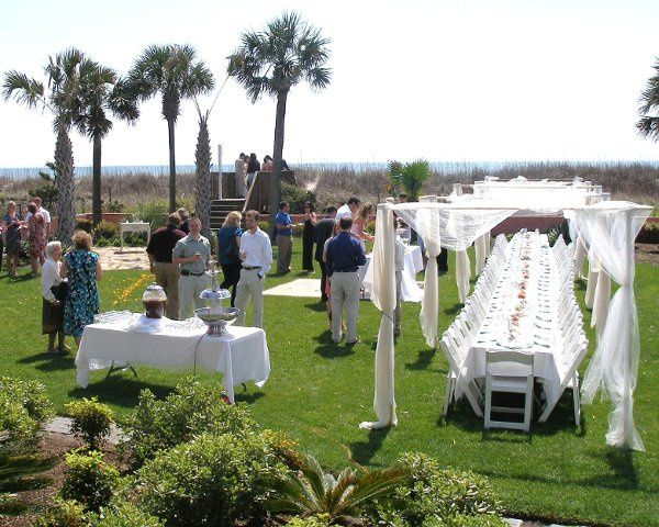 View from the Balcony - Beach House Wedding in Myrtle Beach, SC