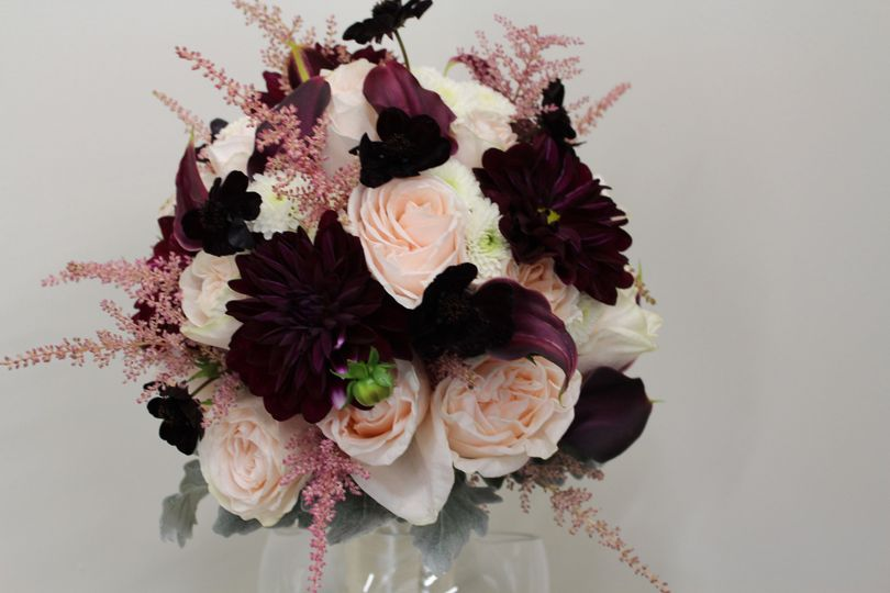 Pink and burgundy flowers