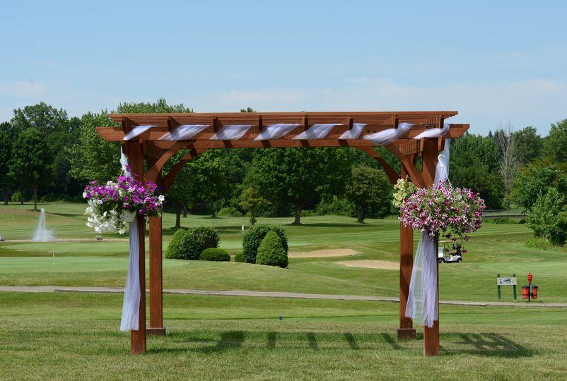 Outdoor Pergola for Weddings @ IMA Brookwood