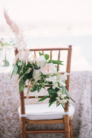 Chair floral decoration