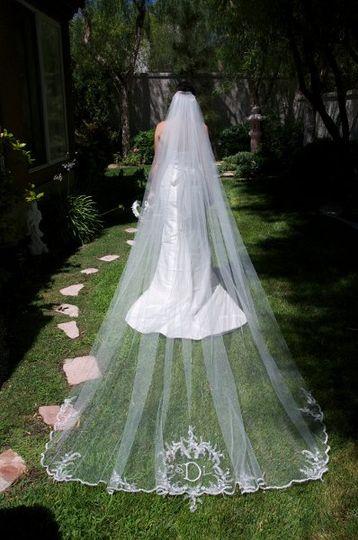 Veil for outdoor wedding