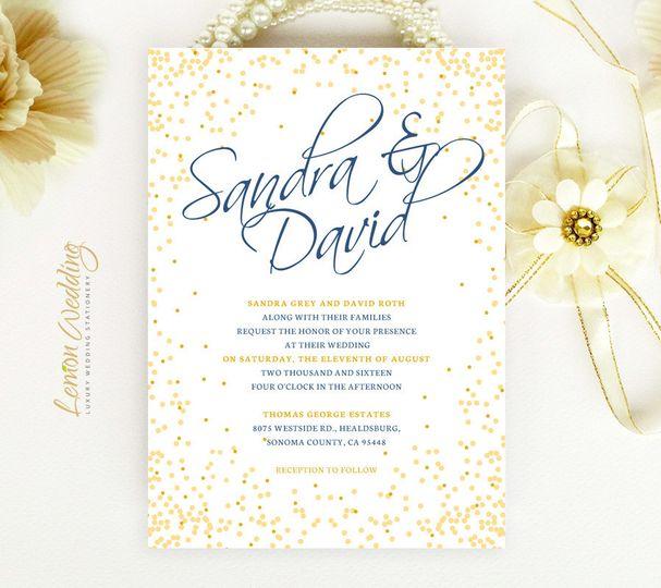 Lemon Wedding Invitations - Invitations - Arlington, VA - WeddingWire