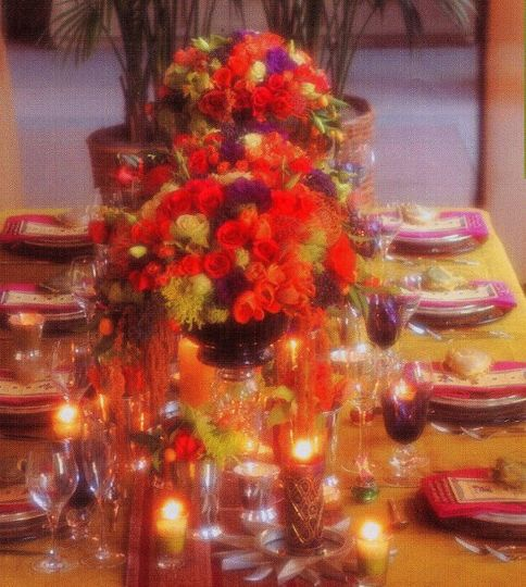 Jewel Tone Color Centerpieces