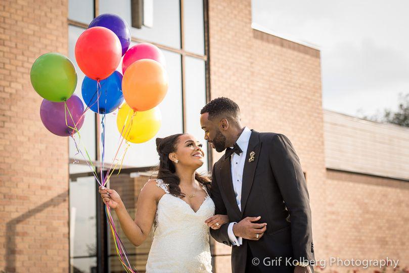houston nigerian wedding couple