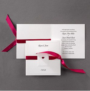 Red ribbon invitation