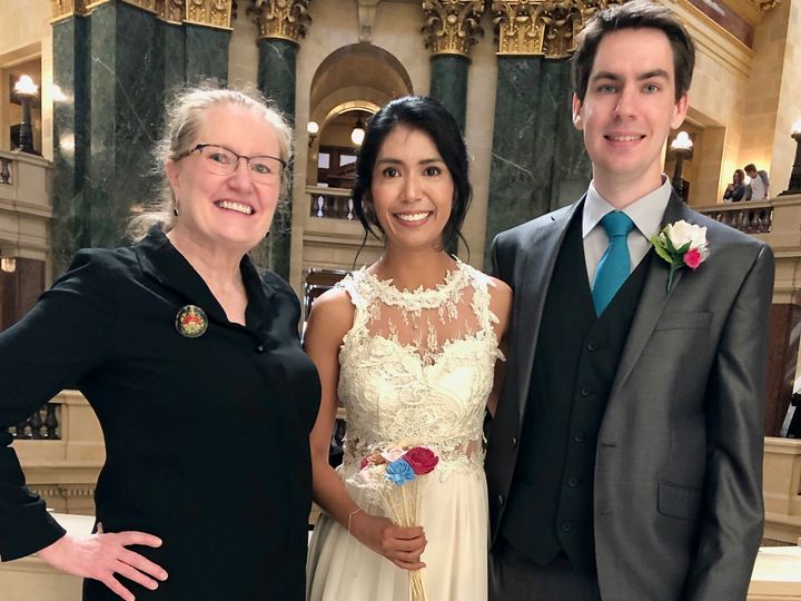 Tmx Cecilia Ubaldo And Brad Pedersen 5 4 19 State Capitol 51 592290 157781324543323 Deerfield, WI wedding officiant