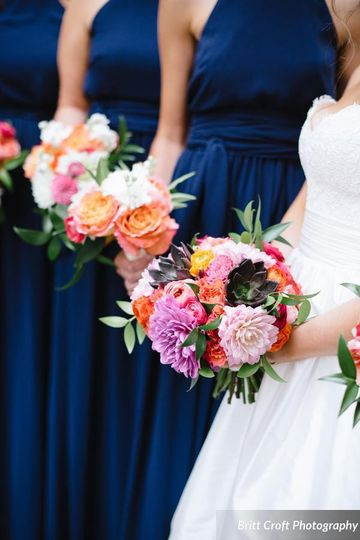 Beautiful spring bouquets