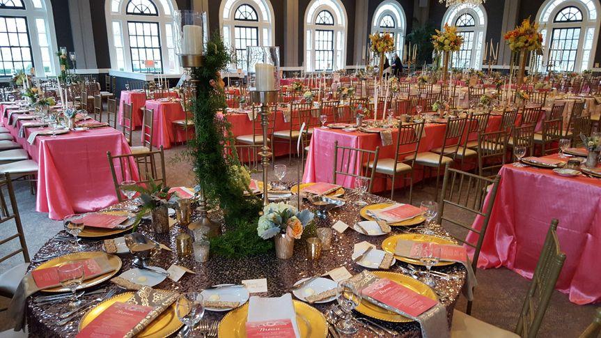 Pink table setup