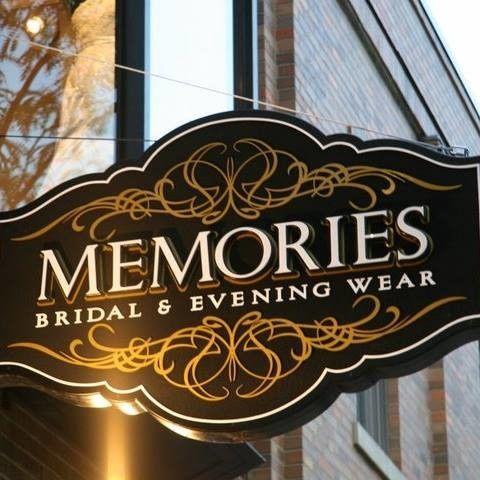 Memories Bridal & Evening Wear storefront sign