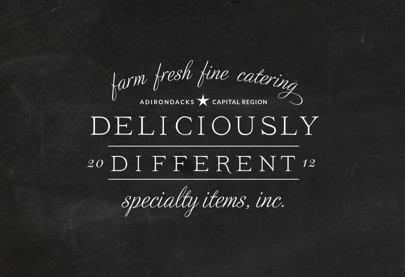 deliciously different on black chalkboard 1 51 735290 158714515512475