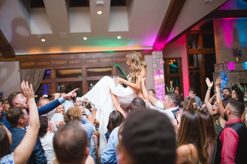 Lifted the bride
