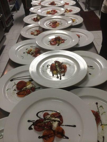 Platted Burratta & Heirloom Tomato Salad