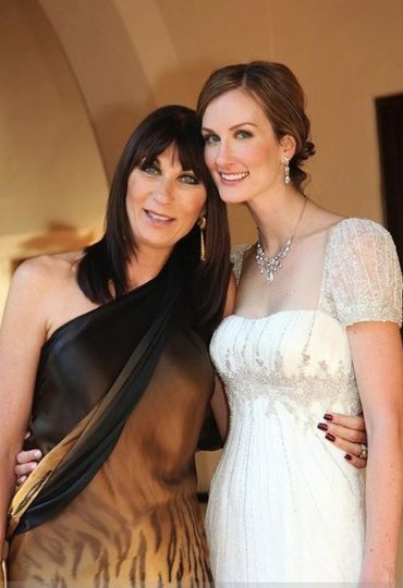 Like mother like daughter. Makeup on mother and bride was done by me in styles requested. Mom looks...