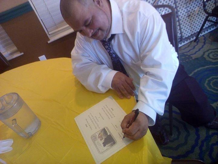 Affixing signature