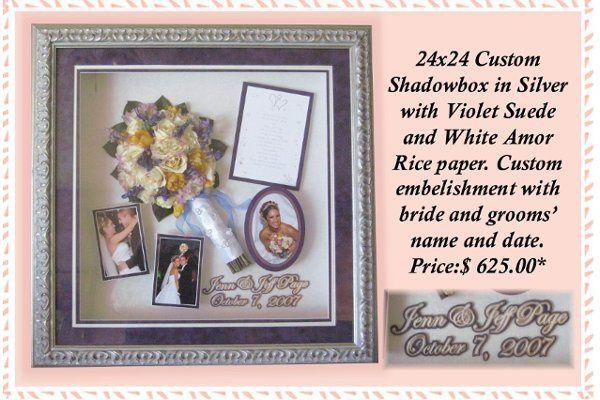 24x24Shadowboxinsilverwithembellishment