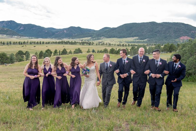 Bridal Party walk of happiness