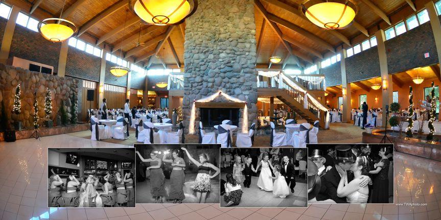 Atrium Ballroom Fireplace and Dance Floor