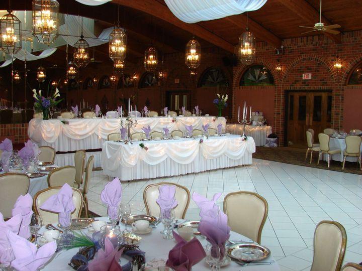 Terrace ballroom head table