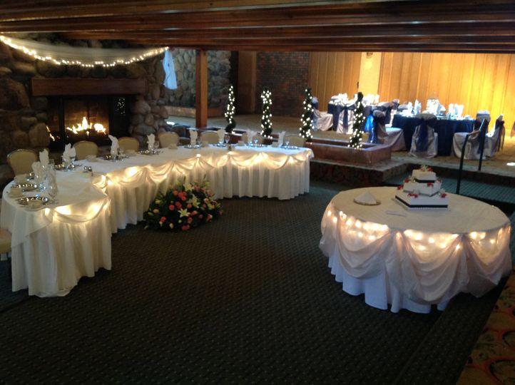 Elegant head table