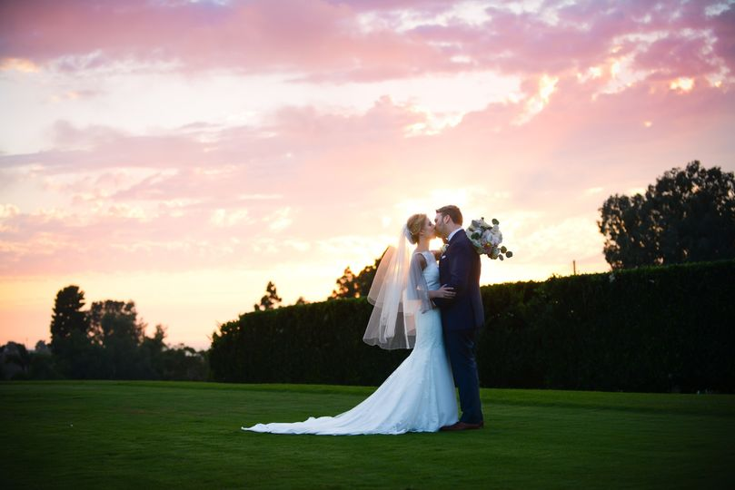 Bride & Groom- Sunset Photo