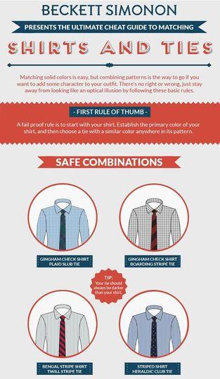 mens wardrobe how to mix shirts and ties