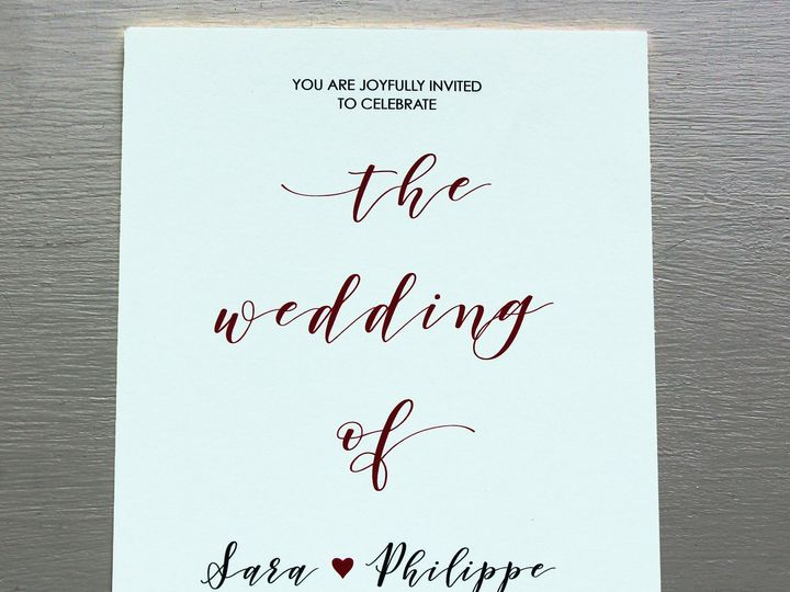 Tmx Wed 12 51 408390 Livingston, New Jersey wedding invitation