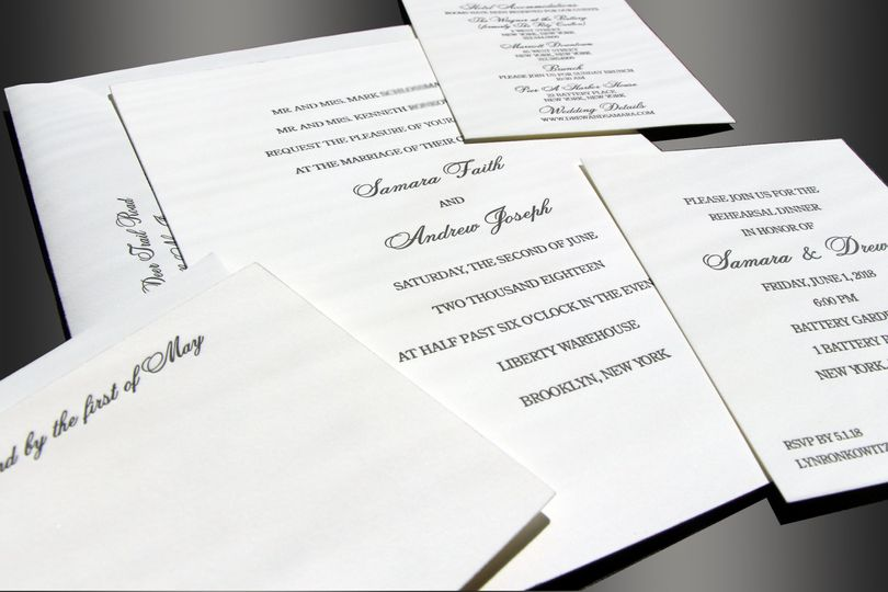 Plain wedding invite
