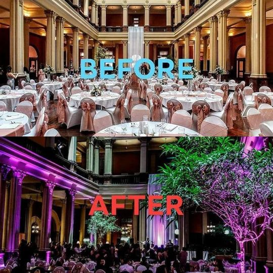 Before and after of the Landmark Center in Saint Paul