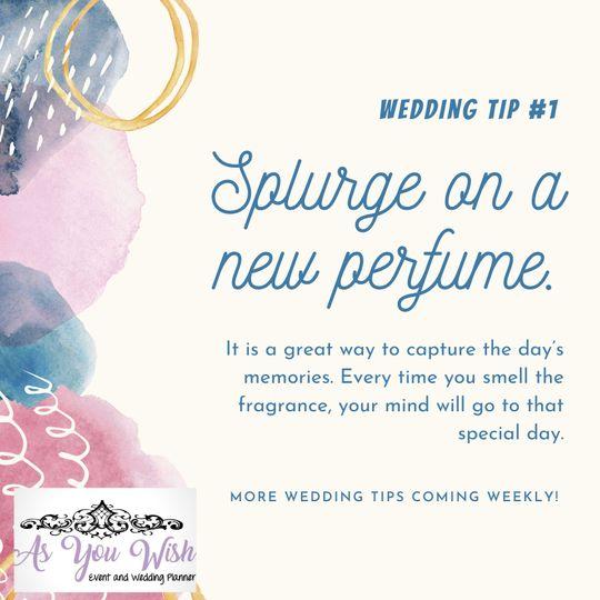 My favorite wedding tip!