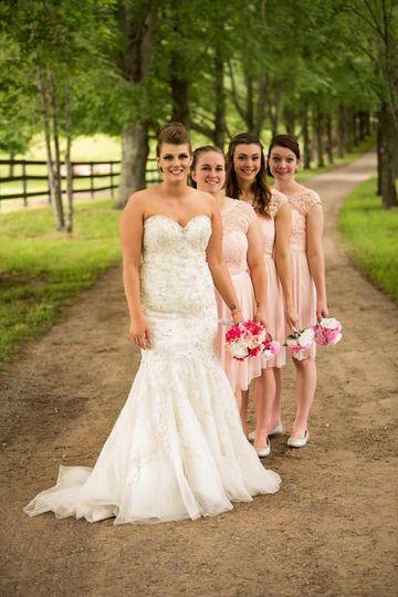 Bridesmaids driveway