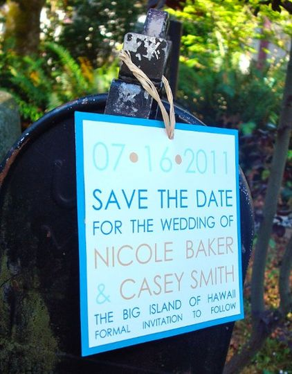 Your guests won't forget your upcoming wedding with these bold and modern save the dates