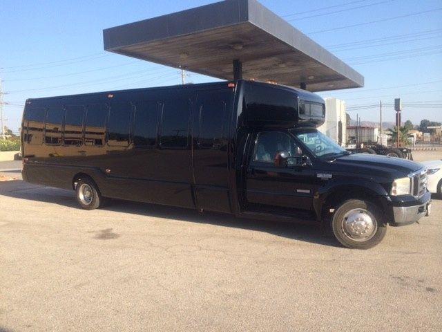 black limo coach exterior