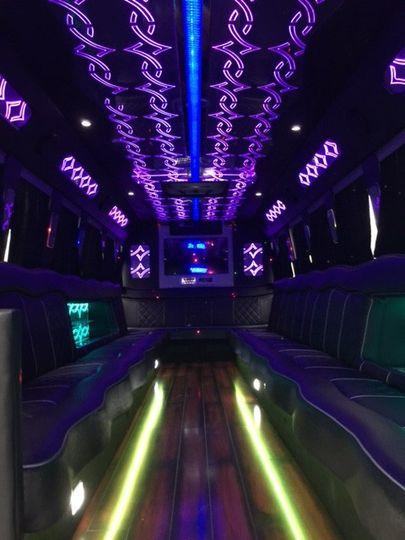 black limo coach interior