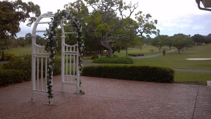 wedding arch course back