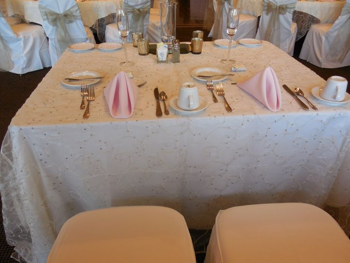 Rectangular table setup