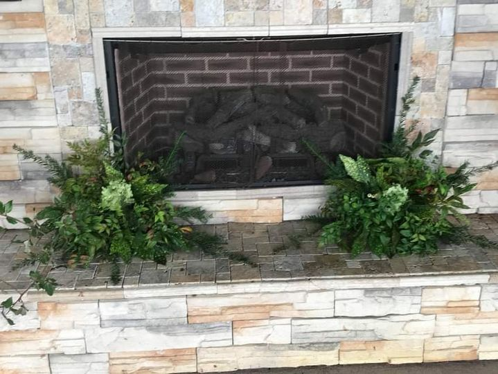 Fireplace at the chapel