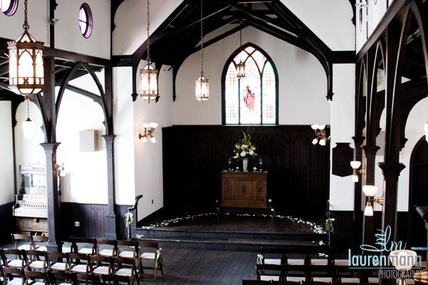 Chapel wedding setup