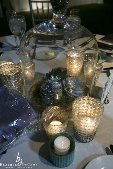Candles as table centerpieces