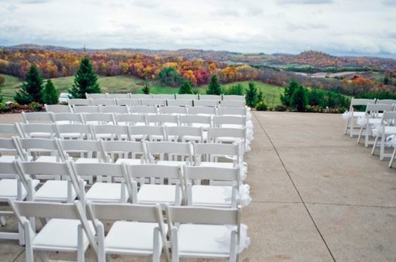 Outdoor wedding seat
