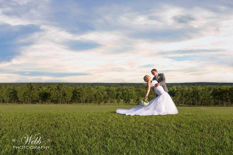 Wedding at Jackson's Landing. Beautiful view for this Happy Couple.