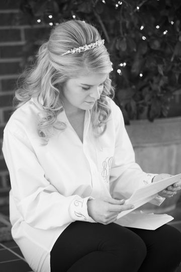 Love to capture the Bride reading a letter from her soon to be Husband just before  she meets him at...