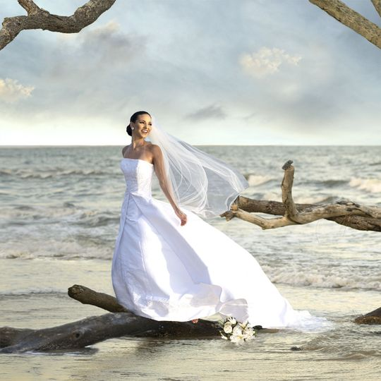 Unique setting- Gorgeous Bride!    Botany Bay  Editso Island, SC