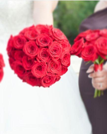 Fresh red bouquet