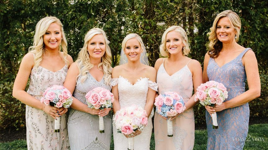 Bouquets of the bride and bridesmaids