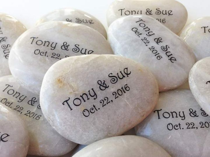 Tmx Engraved Name And Date Stones 51 560590 Minneapolis, MN wedding favor
