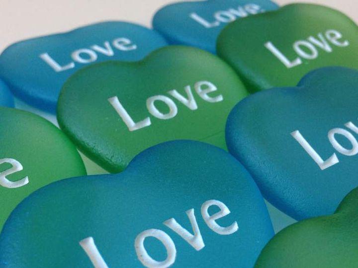 Tmx Love Heart Sea Glass Stones 51 560590 Minneapolis, MN wedding favor