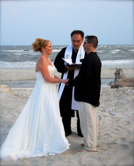 Renee and Chad had a beautiful wedding on Tybee Island!