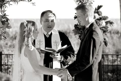 Liz and Chris married by Rev. Joe Wadas in October 2010.