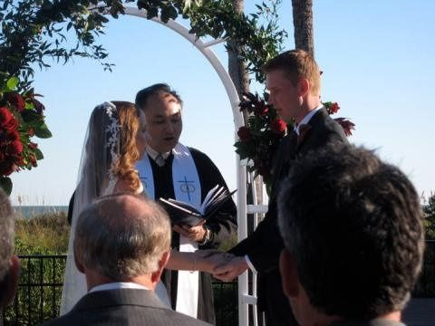 Rev. Joe marries Liz and Chris in October 2010.