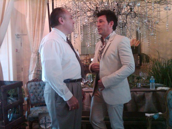 "Rev. Joe chats weddings with David Tutera, Celebrity Wedding Planner and host of WeTV's ""My Fair..."
